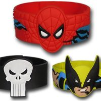 DC Comics & Marvel Comics Molded PVC Wristbands