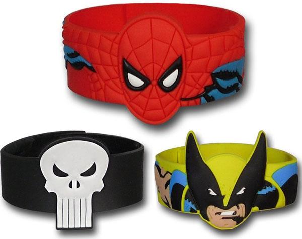 DC Comics & Marvel Comics Molded PVC Wristbands