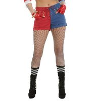 DC Comics Suicide Squad Harley Quinn Lace-Up Split Shorts_small