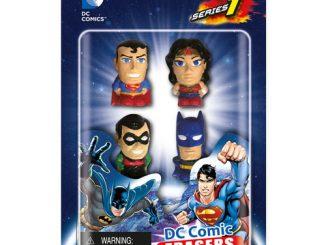 DC Comics Superhero Eraser Set A 4-Pack