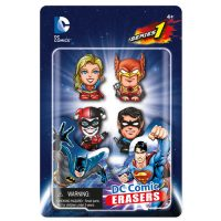 DC Comics Superhero Eraser Set C 4-Pack