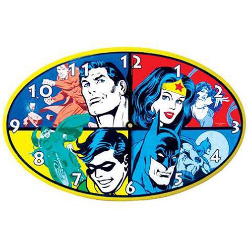 Dc Comics Superheroes Wall Clock