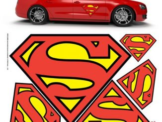 DC Comics Superman Car Graphics Set