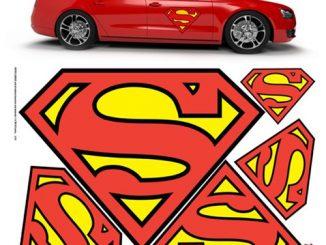 DC Comics Superman Car Graphics Set