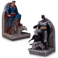 DC Comics Superman and Batman Bookends