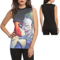 DC Comics The Joker Harley Quinn Kiss Top