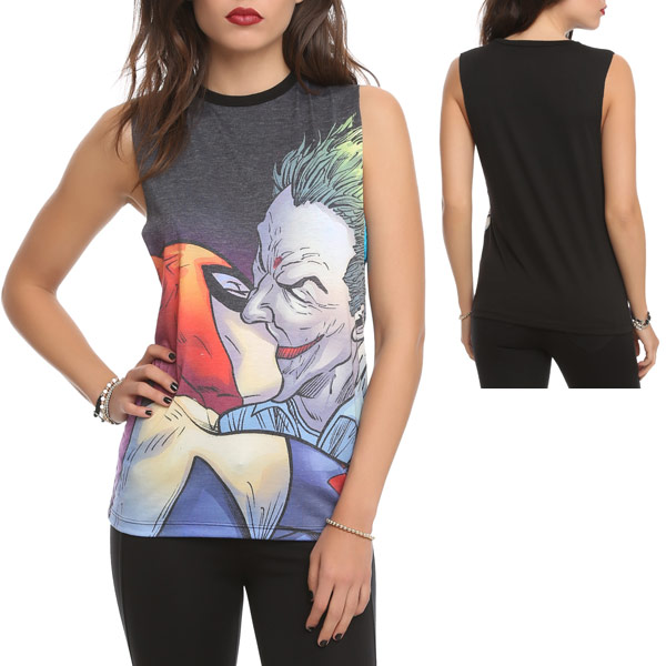 DC Comics The Joker Harley Quinn Kiss Top