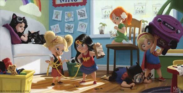 DC Daycare Art Print