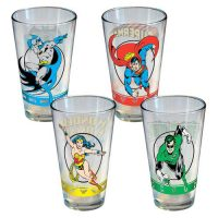 DC Heroes Pint Glass Set of 4