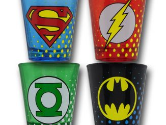 DC JLA Symbol Shot Glass Set of 4