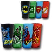 DC Justcie League Color Glass Pint Set