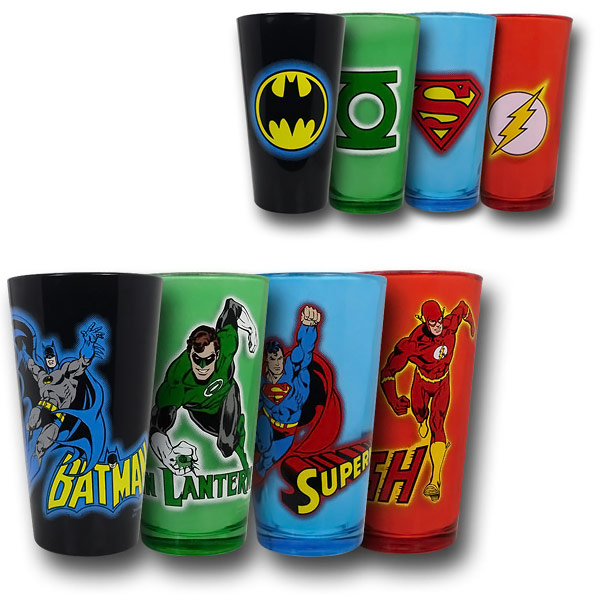DC Justcie League Color Glass Pint Set