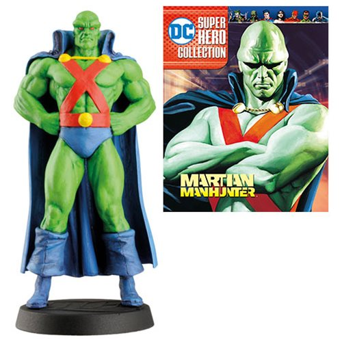 DC Superhero Best Of Martian Manhunter Figure with Collector Magazine #30