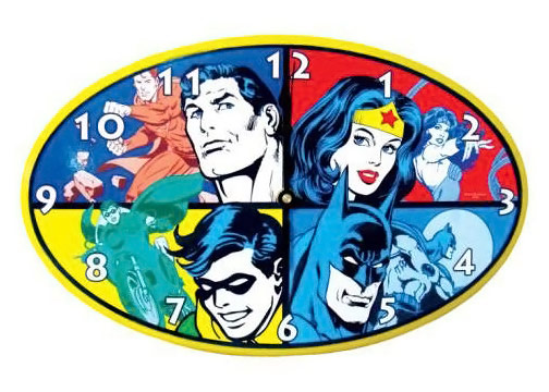 DC Superheroes Wall Clock