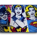 DC Superheroines Fleece Throw Blanket