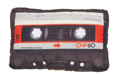 DCI Cassette Tape Retro Pillow