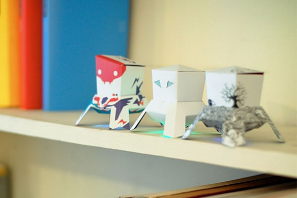 DIY Lunar Modules Light-up Paper Toys