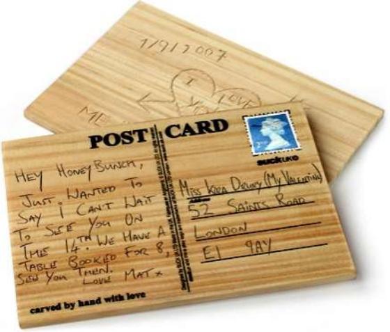 DIY Wooden Postcard