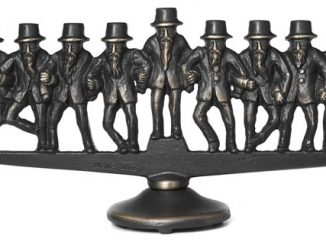 Dancing Rabbi Menorah