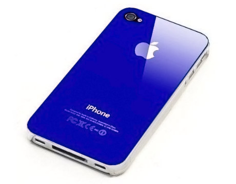 Dark Blue Replicase Hard Air Crystal Jacket Luminosity Case for iPhone 4