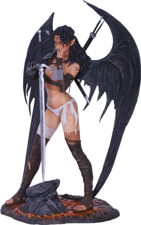 Dark Elf Statue by Luis Royo
