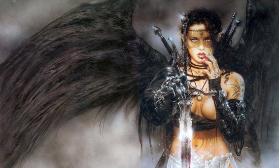 Dark Elf by Luis Royo