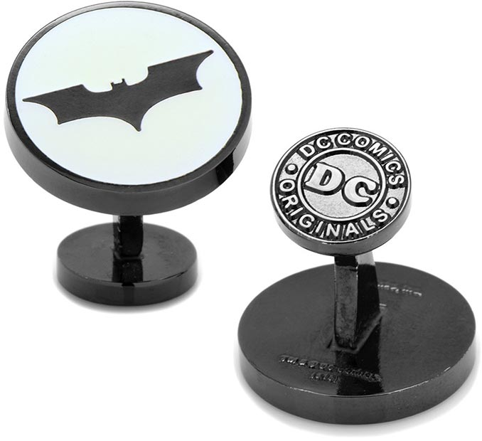Dark Knight Batman Signal Glow in the Dark Cufflinks