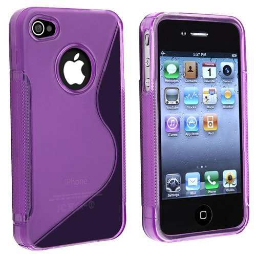 Dark Purple S-Line Hybrid TPU Rubber Skin Case