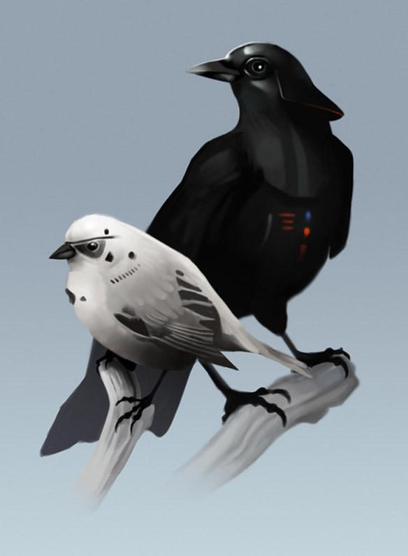 Dark Side of the Flock Art Print