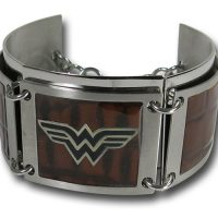 Dark Wood Segment Wonder Woman Bracelet
