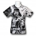 Darth Vader All Over Print 30 Single T-Shirt