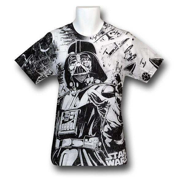 Darth Vader All Over Print 30 Single T-Shirt