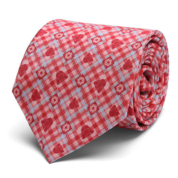 Darth Vader Check Print Silk Tie