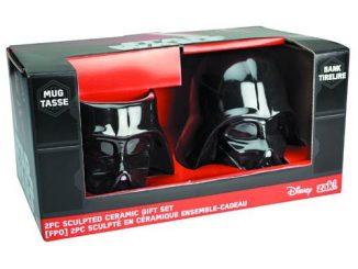 Darth Vader Molded Bank and Mug 2-Pack Set