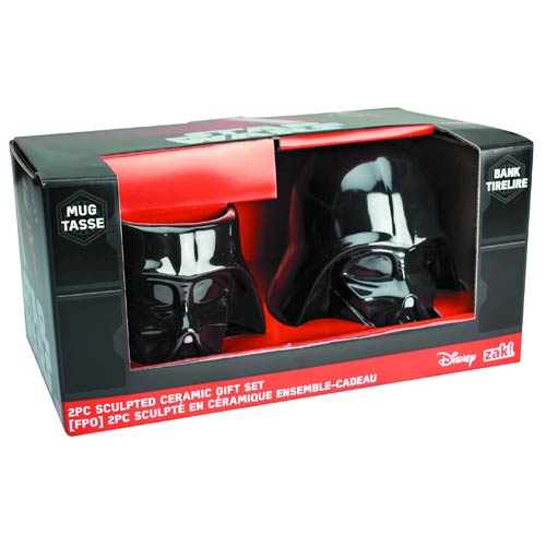 Darth Vader Molded Bank and Mug 2-Pack Set
