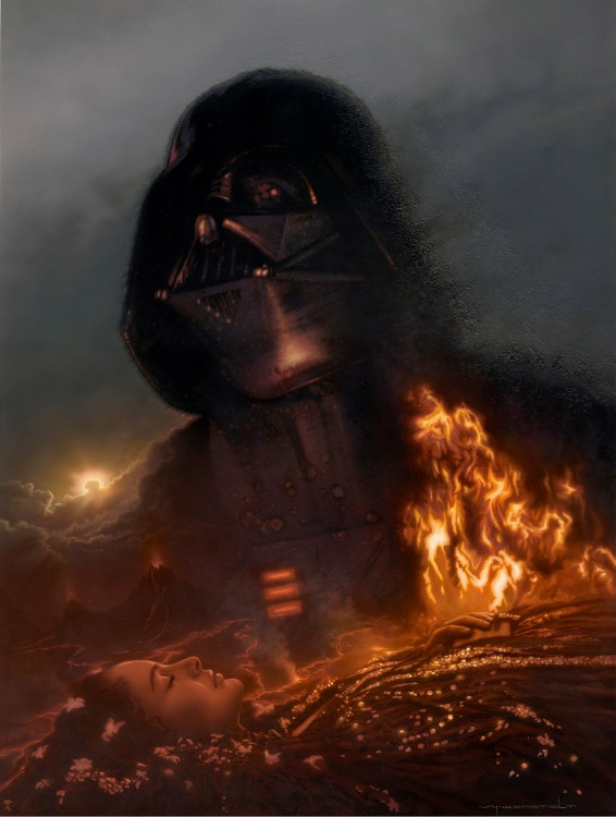 Darth Vader Padme Artwork