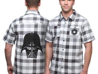 Darth Vader Plaid Button-Down Shirt