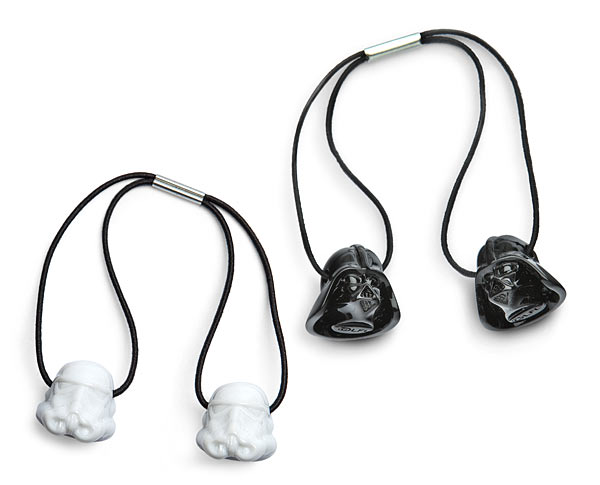 Darth Vader & Stormtrooper Helmet Hair Tie Set