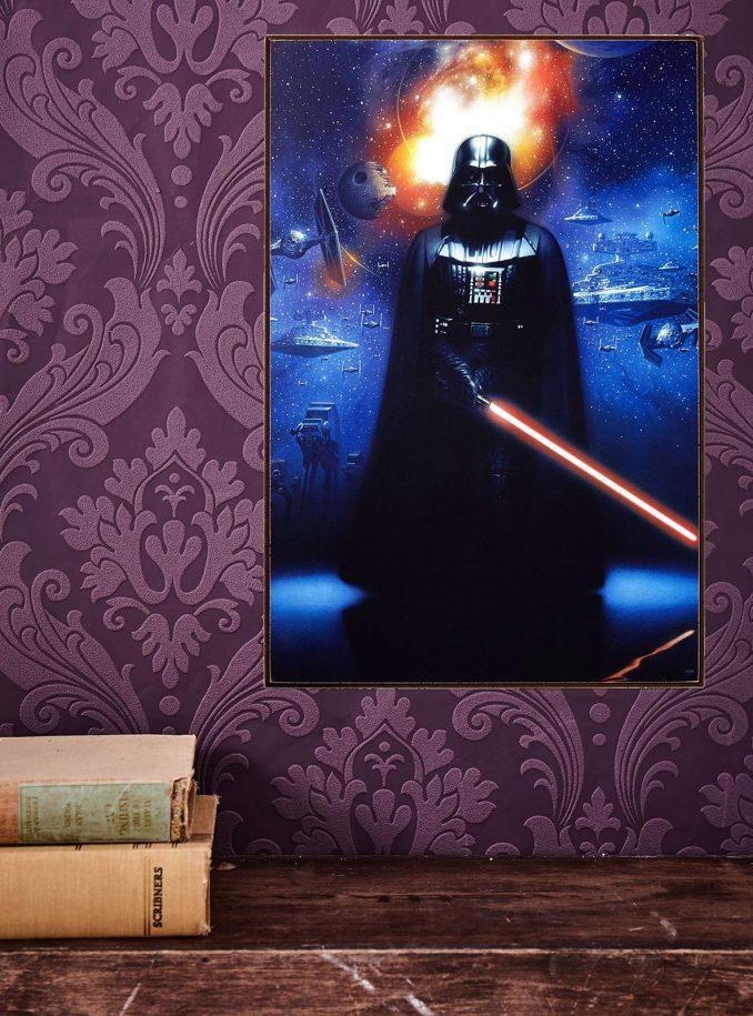 Darth Vader Wood Wall Art