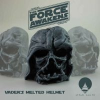 Darth Vaders Melted Helmet