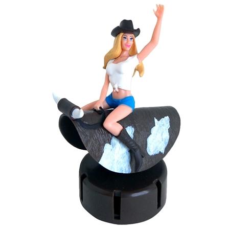 Dashboard Cowgirl Bull Rider