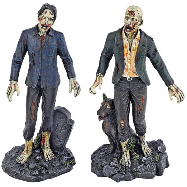 Dead Walking Zombie Statue Set