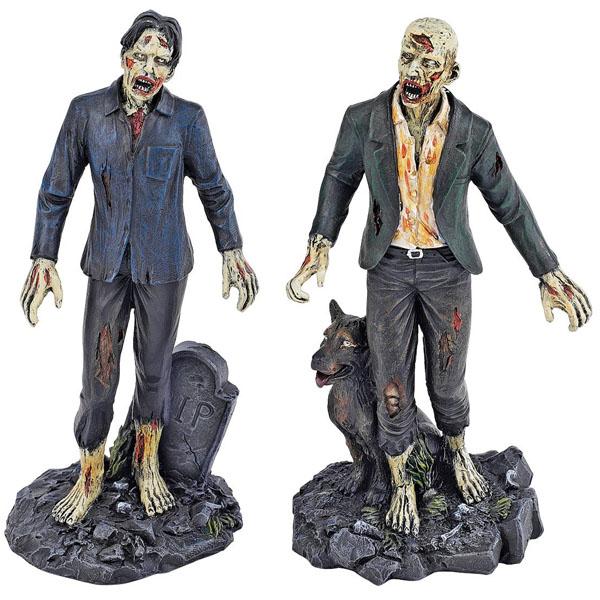 Dead Walking Zombie Statue Set