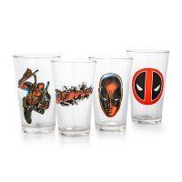 Deadpool 16 oz Set of 4 Pint Glass Set