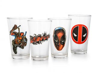 Deadpool 16 oz Set of 4 Pint Glass Set