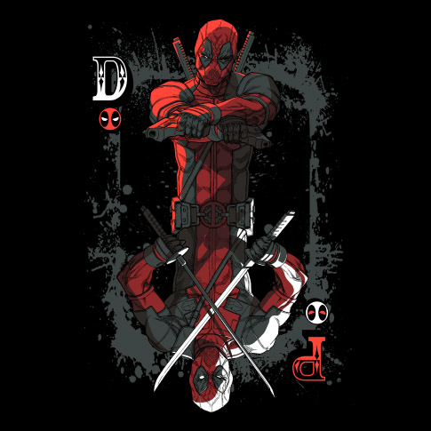 Deadpool Ace of Wades T-Shirt