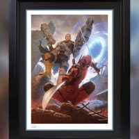 Deadpool & Cable Framed Art Print