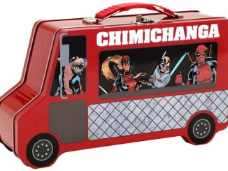 Deadpool Chimichanga Truck Metal Lunch Box