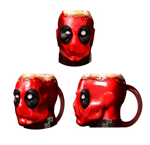 Deadpool Crazy Marvel Molded 16 oz. Mug