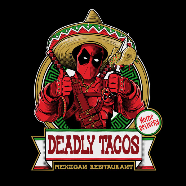 Deadpool Deadly Tacos T-Shirt